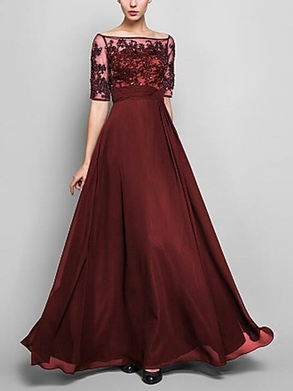 Burgundy Lace Off Shoulder Plus Size Draped Flowy Elehant Homecoming Party  Maxi Dress