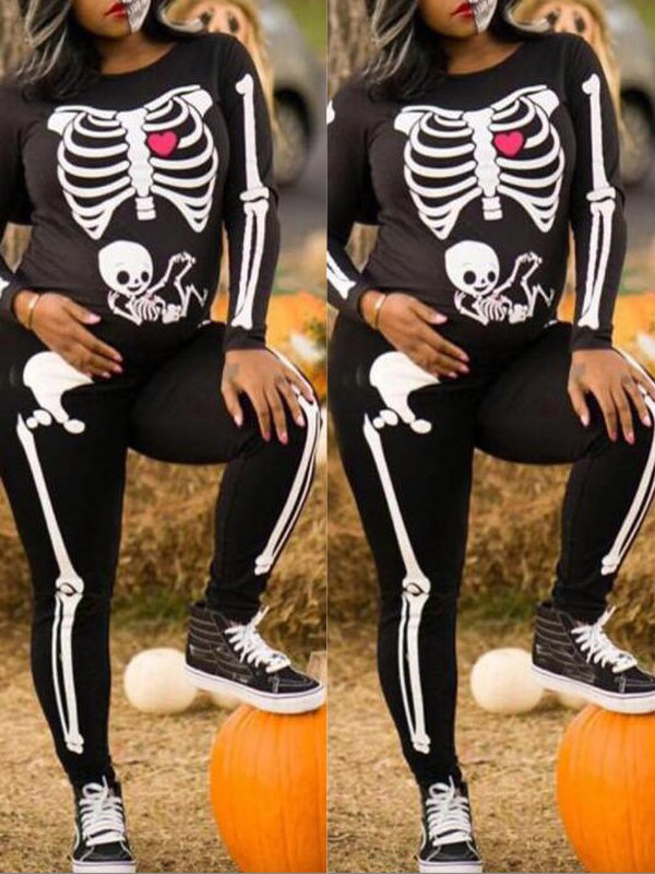 51044a6156215 Black White The Vampire Halloween Costumes Skeleton Ghost Bride The Queen  Long Jumpsuit - Jumpsuit Pants - Bottoms