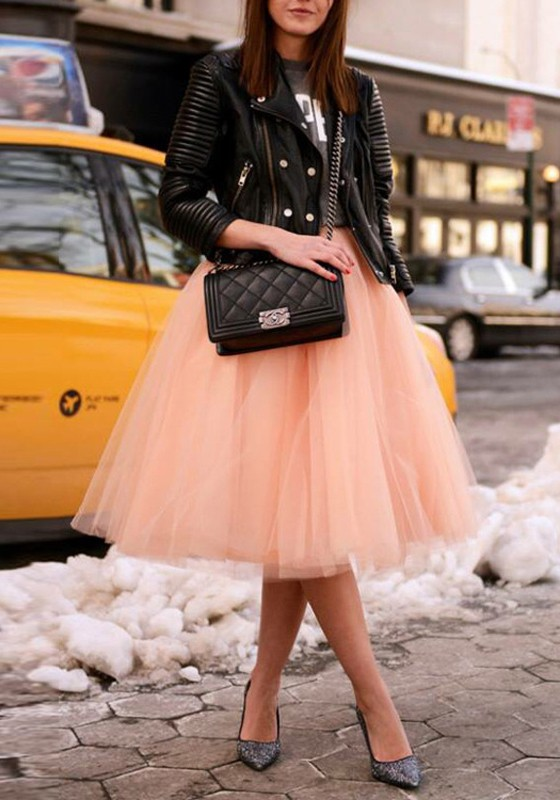 9cc711a2a4 Champagne Grenadine Fluffy Puffy Tulle Plus Size High Waisted Homecoming  Party Tutu Midi Skirt - Skirts - Bottoms