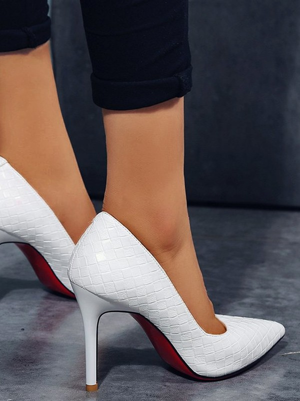 White Point Fashion Heeled Stiletto Pumpsheels Toe High Shoes xodCBe