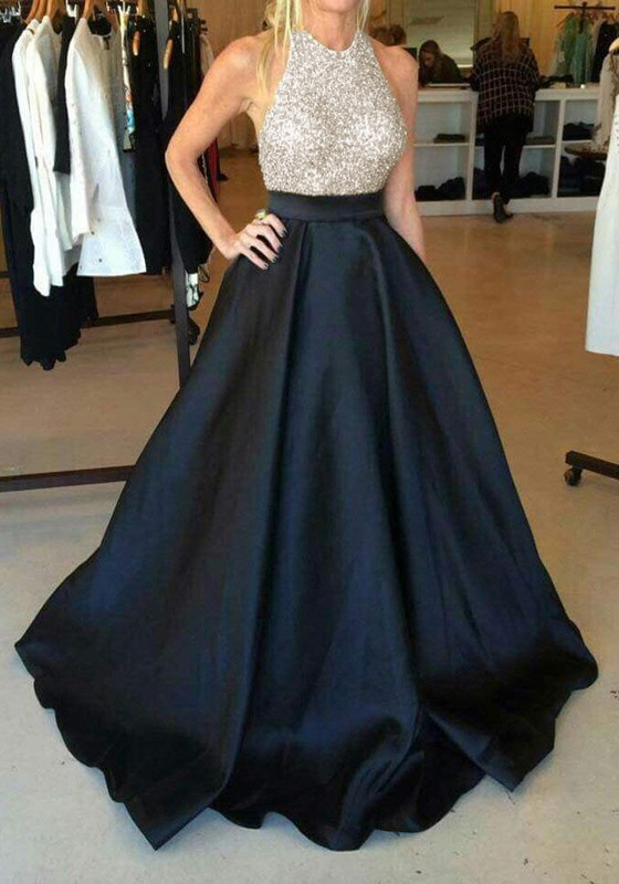 87b3e74cab7e6 Black Sequin Pleated Glitter Tutu High Waisted Elegant Graduation Party Maxi  Dress - Maxi Dresses - Dresses