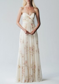White Draped Grenadine Off Shoulder Backless Wedding Gowns Banquet Elegant Party Maxi Dress