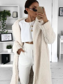 White Buttons Square Neck Long Sleeve Casual Cardigan Sweater