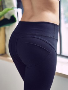 Black Skinny High Waisted Going out Sports Yoga Long Legging