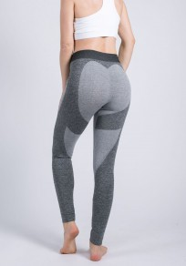 Dark Grey Heat Butt Print High Waisted Sports Yoga Workout Long Legging