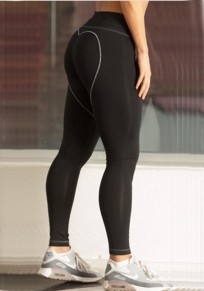 Black Heart Butt High Waisted Bodycon Yoga Sports Workout Long Legging