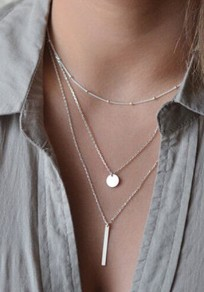 Silver Fashion Alloy Pendant Necklaces