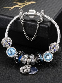 Blue Rhinestone Fashion Bracelet