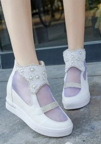 White Flat Within The Higher Pearl Grenadine Casual Shoes