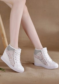 White Within The Higher Grenadine Patchwork Rhinestone Casual Shoes