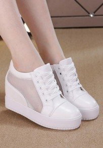 White Round Toe Heavy-Soled Within The Higher Casual Shoes