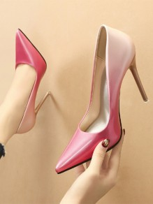 Pink Point Toe Stiletto Fashion High-Heeled Shoes
