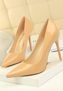 Khaki Point Toe Stiletto Fashion High-Heeled Shoes