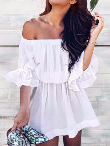 White Sashes Going out Comfy Fashion One Piece mini dress