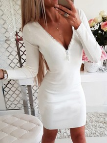 White Lace Floral Fashion Sweet Comfy One Piece mini dress