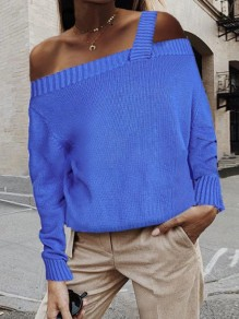 Blue Going out Comfy Sweet Fashion T-Shirt
