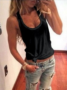 Black Casual Fashion Cute Comfy Going out Fashion Vest