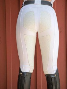 White Patchwork Pockets High Waisted Riding Push Up Sports Long Legging