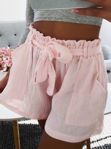 Pink Pockets Sweet Cute Comfy Going out Waist High Waisted Pants