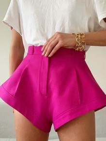 Rose Carmine Bodycon High Waisted Ttrendy Comfy Going out Shorts