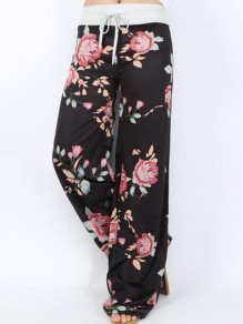 Multicolor Floral Print New Fashion Latest Women Sweet Sleepwear Sleep Bottoms