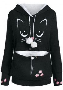 Black Cat Cuddle Pouch Dog Pet Kangaroo Dog Carrier Hoodie Cute Sweatshirt