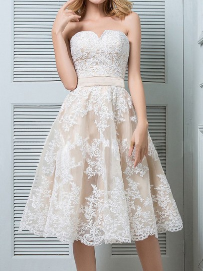 e23f5a3013 White Patchwork Lace Off Shoulder Pleated High Waisted Elegant Homecoming  Party Midi Dress