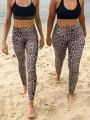 Brown Leopard Print Skinny High Waisted Sports Legging