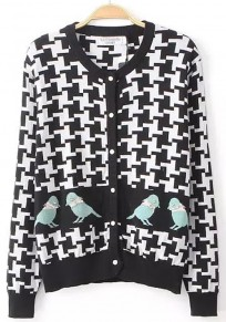 Plover Case Print Long Sleeve Cardigan