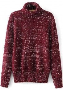 Wine Red Print Pullover