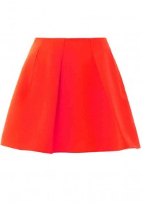 Red Plain Above Knee A Type Dacron Skirts