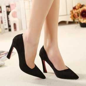 Black Point Toe Stiletto Fashion High-Heeled Shoes