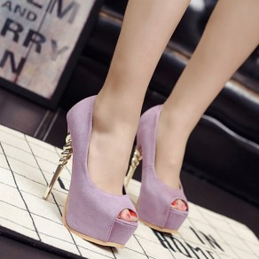 Purple Piscine Mouth Stiletto Casual High-Heeled Shoes