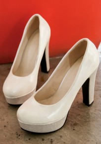 Silver Point Toe Chunky Fashion Ankle High-Heeled Shoes