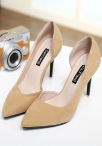 Apricot Point Toe Stiletto Fashion Ankle High-Heeled Shoes
