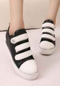 Black Round Toe Within The Higher Rhinestone Casual Shoes