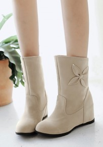 Apricot Within The Higher Flower Patchwork Sweet Boots