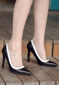 Black Point Toe Stiletto Rubber Fashion High-Heeled Shoes