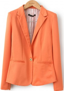 Orange Nine's Sleeve Single Button Cotton Blend Suit